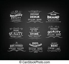 Retro elements for calligraphic