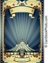 Retro entertainment circus - A vintage circus background...
