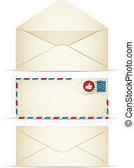 Retro Envelope - Retro-styled envelope illustration. EPS10....