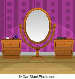 Retro, espejo