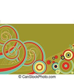 retro, espirales