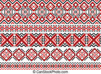 Retro ethnic ornaments and traceries for design
