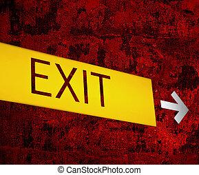 """Retro """"EXIT"""" sign background"""