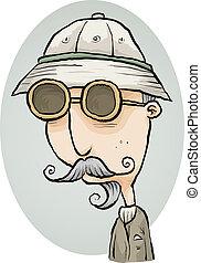 Retro Explorer - An old-fashioned cartoon explorer.