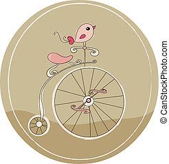 retro, fahrrad