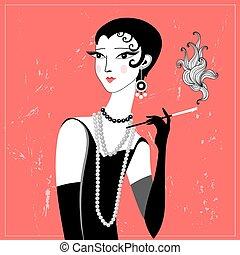 retro fashion girl