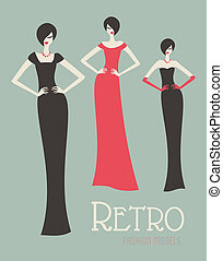 Retro Fashion Models