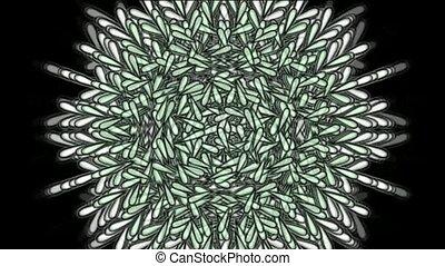 retro feather flower pattern
