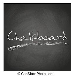retro, fekete, chalkboard, háttér, noha, szöveg, eps10