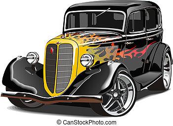 retro, feltuningolt autó