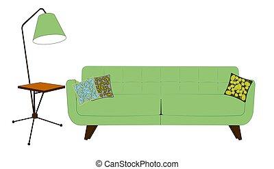 retro fifties living room