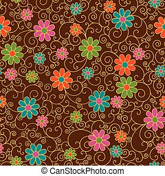 Retro Filigree Floral Pattern