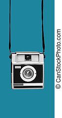 retro film camera, in mobile stories format