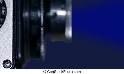retro film camera macro shot - Camera Lens of old film...