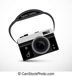 Retro Film or Digital Camera - Vector