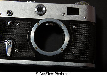 Retro film photo camera
