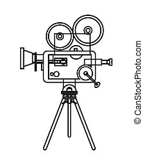 retro film projector icon