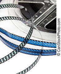 Retro film reel - Vintage Super 8 film reel isolated on...