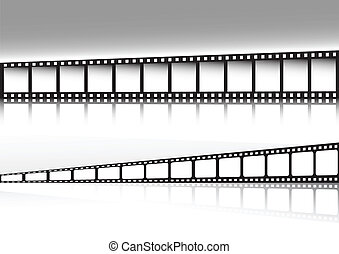 Retro film strip background double