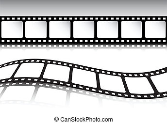 Retro film strip background set