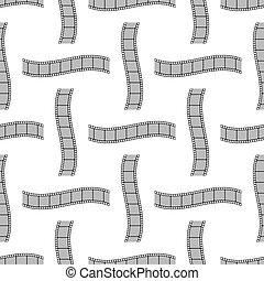 Retro Film Stripes Seamless Cinema Pattern