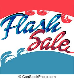 Retro flash sale banner