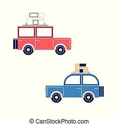 Retro flat cars
