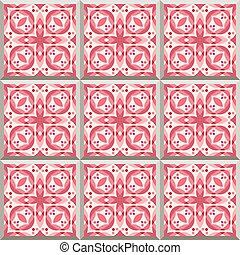 Retro Floor Tiles patern - Floor tiles - seamless pattern...