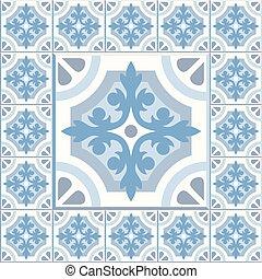 Retro Floor Tiles patern - Floor tiles - seamless vintage...