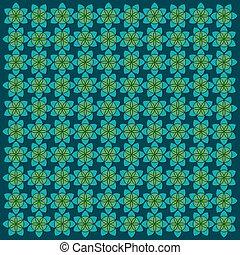 retro flora flora pattern