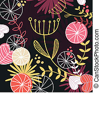 Retro floral pattern background