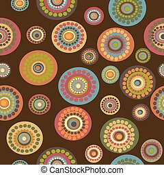 Retro floral seamless on brown background
