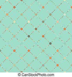Retro floral seamless pattern. EPS 8