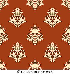 Retro floral seamless pattern