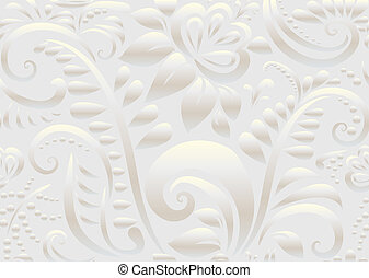 Retro floral wallpaper. Seamless. Vector illustration