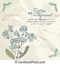 Retro Flourish Background - Retro flourish background with...