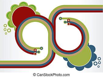 Retro Flower Background Design
