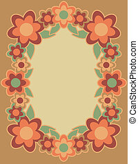 Retro Flower Frame_Orange