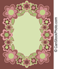 Retro Flower Frame_Rose
