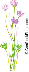 Retro Flower Illustration - Beautiful Floral illustration to...