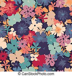 retro flower print - seamless background