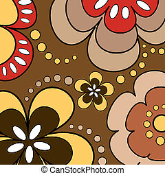 Retro flowers - Retro flower background