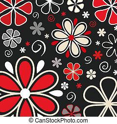 Retro flowers - Retro styled flower background