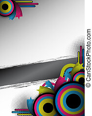 retro flyer design - abstract retro flyer for design