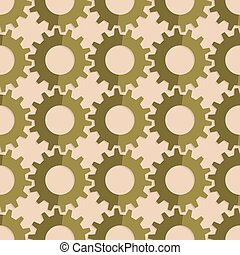 Retro fold green gears