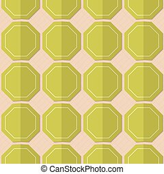 Retro fold green octagons