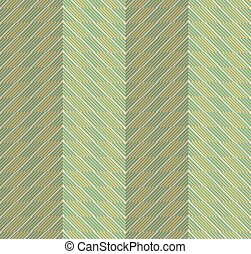Retro fold green striped chevron