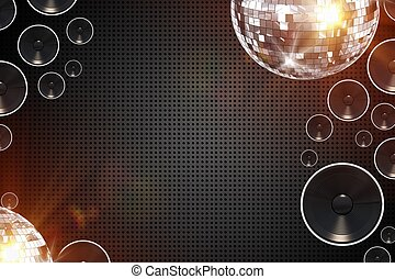 retro, fond, disco