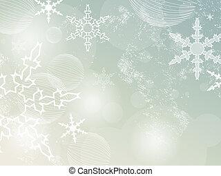 retro, fond, hiver