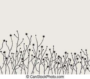 retro, fond, vecteur, floral